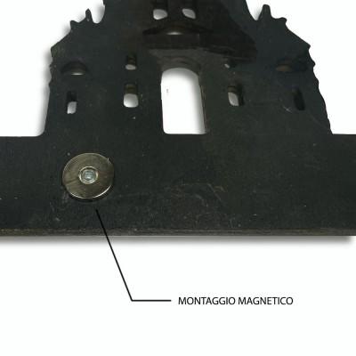 copy of Specchio Babak in legno di rovere